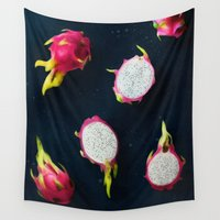 fruit Wall Tapestries featuring fruit 7 by LEEMO