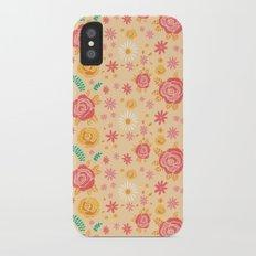 Peach Roses Slim Case iPhone X