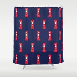 Red British post box Shower Curtain