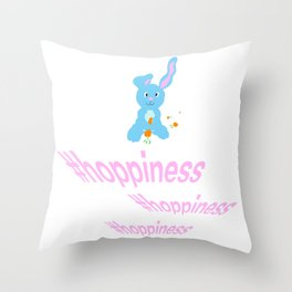 #hoppiness Throw Pillow