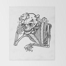 Anxiety Skeleton Throw Blanket
