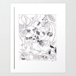 BZZ PLEaze Art Print
