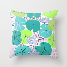 The Lily Pond 2 Throw Pillow