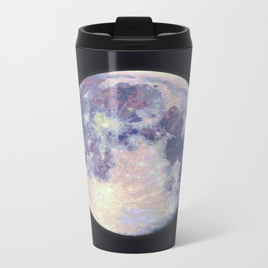 Blue moon Metal Travel Mug