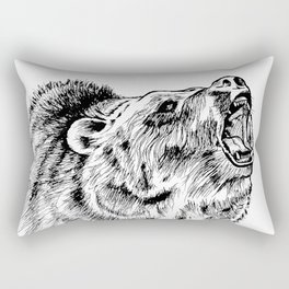 Howling Grizzly Rectangular Pillow
