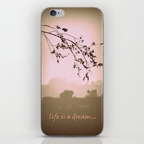 life is a dream iPhone Skin