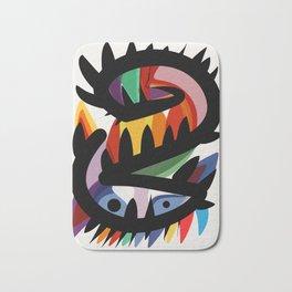 Depemiro Abstract Colorful Art Bath Mat