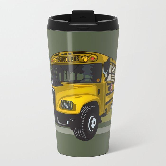 School bus Metal Travel Mug
