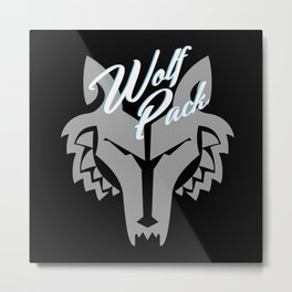 Star Wars The Clone Wars Wolf Pack Metal Print
