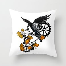 Raven and Ginkgo - Autumn Cycle Throw Pillow