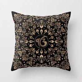 Ek Onkar / Ik Onkar Black and Gold #2Ek Onkar / Ik Onkar Black and Gold #2 Throw Pillow