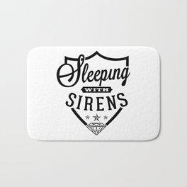 sleeping with sirens logo Bath Mat