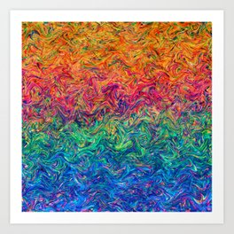 Fluid Colors G249 Art Print