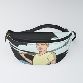 Farmer with pitchfork in the field Fanny Pack