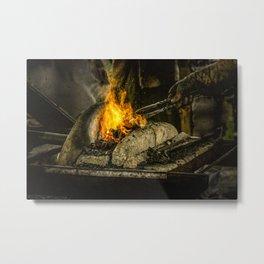 Hot working Metal Print