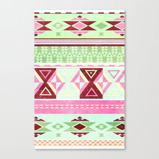 Neon Aztec Canvas Print