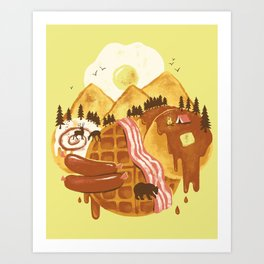 Breakfastscape Art Print
