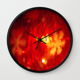 Red Xmas Ball Wall Clock