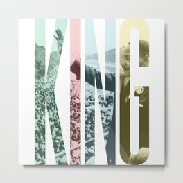 King - Martin Luther King Metal Print