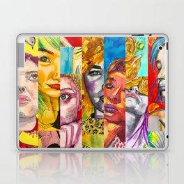 Female Faces Portrait Collage Design 1 Laptop & iPad Skin
