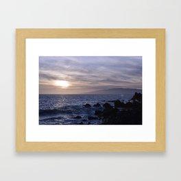 Primo giorno. Primo tramonto. Framed Art Print