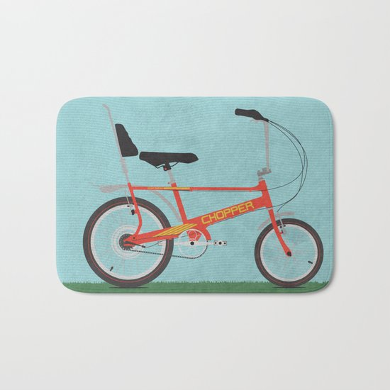 Chopper Bike Bath Mat