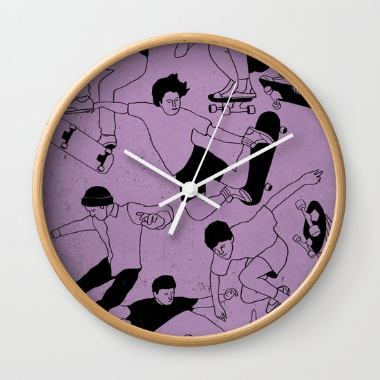 Sidewalk Surfing Wall Clock