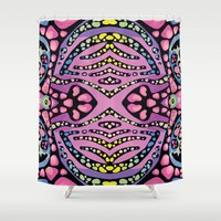 chemistry Shower Curtains featuring Brain Chemistry - Front by - r u b e n d a r i o -