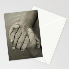 manos trabajadoras Stationery Cards