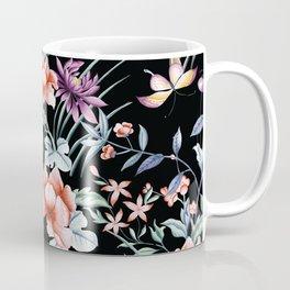 French Butterfly Black Coffee Mug
