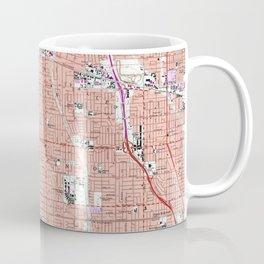 Vintage Map of Van Nuys California (1966) Coffee Mug