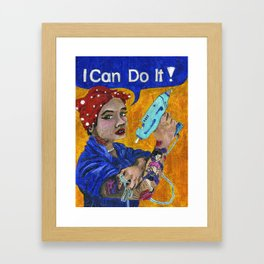 I Can Do It. Framed Art Print