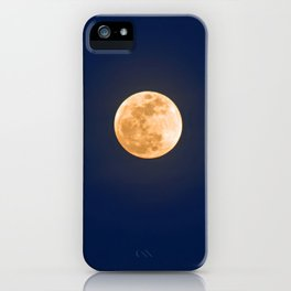 """January Blue Moon"" with poem: Any Mysteries iPhone Case"