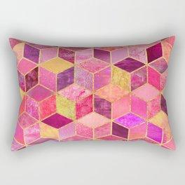 Pink Cubes Rectangular Pillow
