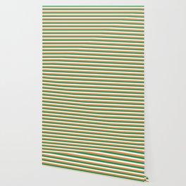 Irish Tricolour Horizontal Stripes Green Orange and White Irish Flag Wallpaper