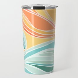 Sea and Sky II / Abstract Landscape Travel Mug
