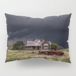 This Old House - Abandoned Home and Cotton Gin in Texas Pillow Sham