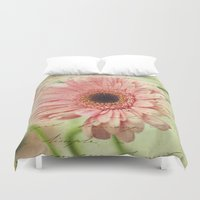 shabby chic Duvet Covers featuring Shabby Chic by whimsy canvas
