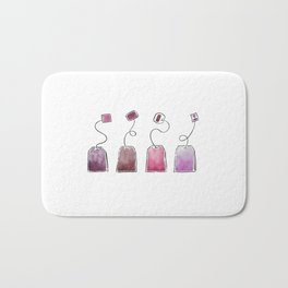 Pink Tea Bags Bath Mat