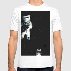 Spaced Dreams (Moon Traveler) MEDIUM Mens Fitted Tee White