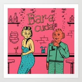 Bar-a-cuda Art Print