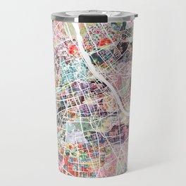 Warsaw map Travel Mug