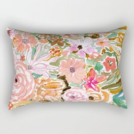 SMELLS LIKE SELF BELIEF Floral Rectangular Pillow