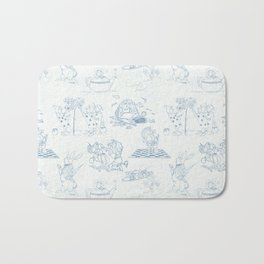 Alice in Wonderland Toile Blue Bath Mat