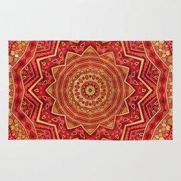 Ruby Red Mandala Rug
