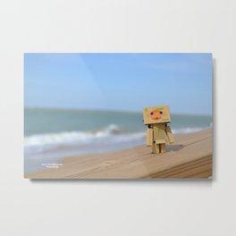 Danbo on the beach Metal Print