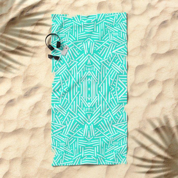 Radiate (Mint) Beach Towel