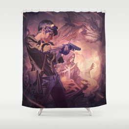 Dragons of Dorcastle Shower Curtain