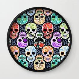 Calaveras_ Sugar Skulls_Celebracion del Color_RobinPickens Wall Clock