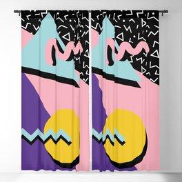 Memphis Pattern 23 - 80s Retro - Pastel Colors Blackout Curtain